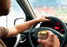 Motorista é preso por embriaguez após atingir motocicleta em quebra-molas