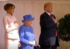 Trump se reúne com a rainha Elizabeth em Windsor