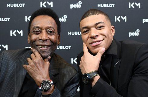 Pelé e Mbappé se encontram em Paris