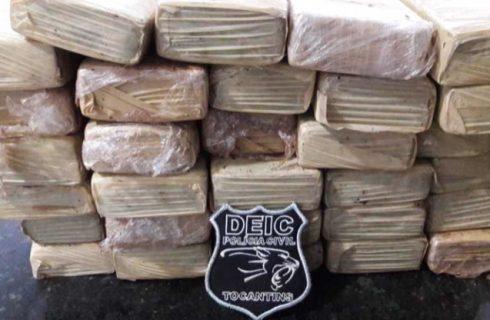 Polícia Civil prende dois suspeitos de tráfico de drogas e apreende mais de 30 kgs de maconha em Gurupi