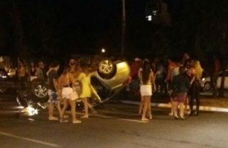 Motorista causa acidente próximo a movimentado bar de Palmas e foge em seguida
