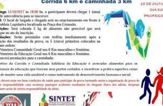 Dia do Professor terá Corrida e Caminhada Solidária da Educação em Palmas