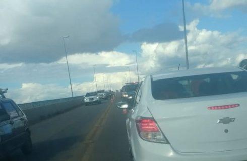 Engavetamento de seis Carros na ponte entre Palmas e Paraíso