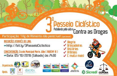 Polícia Militar e parceiros realizam 3º Passeio Ciclístico contra as Drogas em Palmas