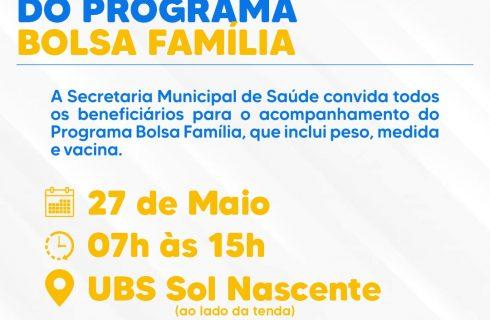 Beneficiários do Bolsa Família devem fazer acompanhamento das condicionalidades de saúde