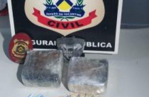 Polícia Civil prende duas pessoas e apreende um quilo de crack em Araguaína