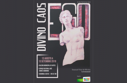"""Galeria Municipal de Artes recebe a exposição """"Divino Caos"""", do desenhista Leromanual"""