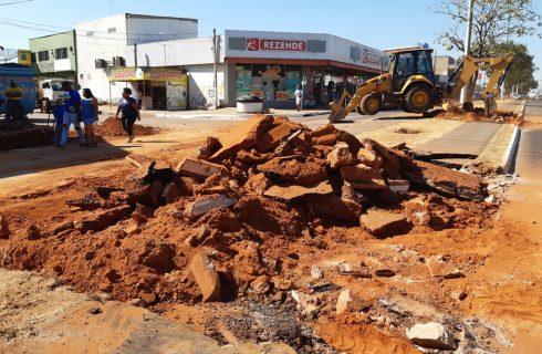 Prefeitura de Palmas inicia construção de retorno na Avenida Tocantins, em Taquaralto