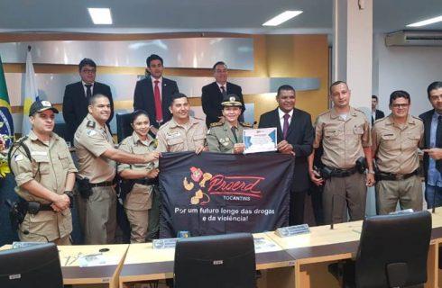 PMTO recebe homenagem na Câmara de Vereadores de Palmas pela atuação no PROERD