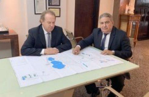 Investimentos| Governador Mauro Carlesse e prefeito Laurez Moreira discutem projeto do parque linear em Gurupi