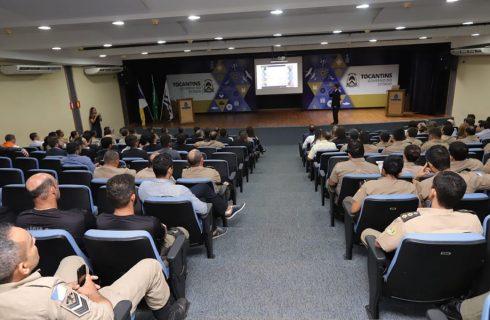 Integrantes das forças de segurança participam de palestra sobre integração de dados com nova plataforma digital