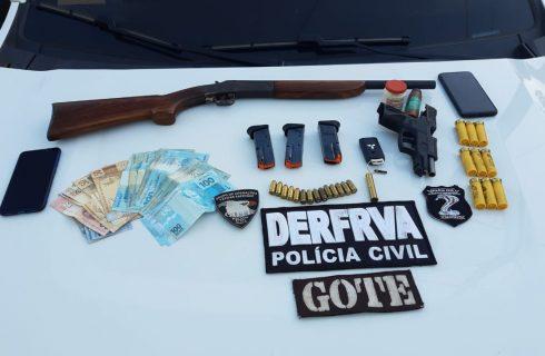 Polícia Civil identifica e prende integrantes da quadrilha que praticou roubo na fazenda Canadá em Figueirópolis, no sul do Estado