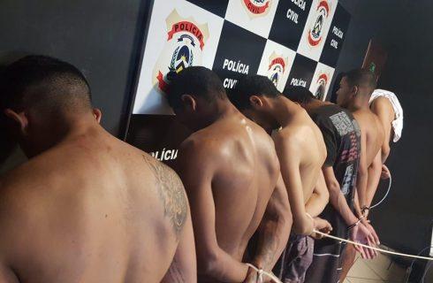 Policia Civil prende cinco traficantes em desdobramento da Operação Napalm