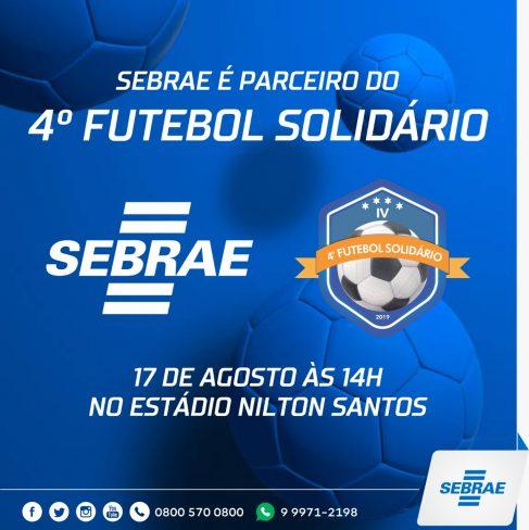 Futebol Solidário 2019 acontece neste sábado, 17