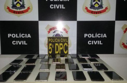 Polícia Civil recupera e devolve aos verdadeiros donos 28 aparelhos celulares em Palmas