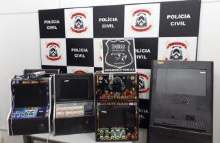 Polícia Civil apreende máquinas caça-níqueis em operação contra jogos de azar