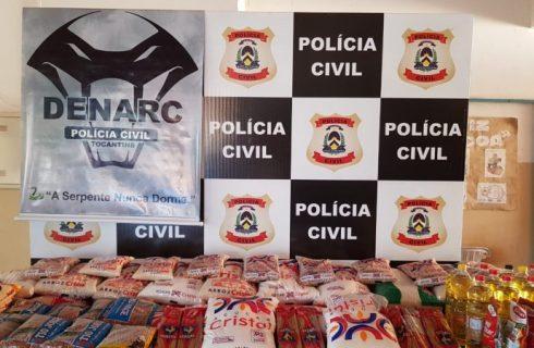 Após fechar ponto em que droga era trocada por alimento, Policia faz doação à abrigo