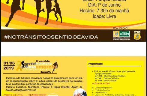 Campanha Maio Amarelo encerrará neste sábado (01) em Gurupi com evento no Parque Mutuca