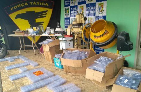 Polícia Militar encontra laboratório de produção de drogas em propriedade rural