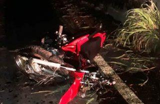 Motociclista morre e passageiro fica ferido após caírem de ponte na TO-230