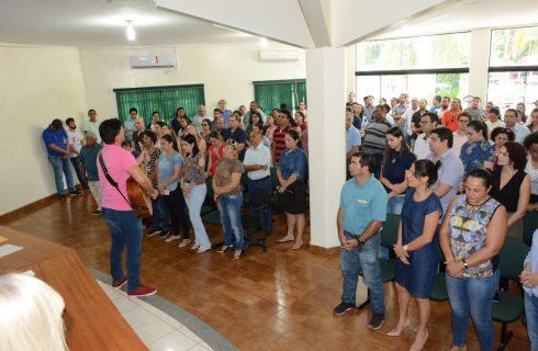 Servidores realizam solenidade religiosa pela saúde de Moisés Avelino