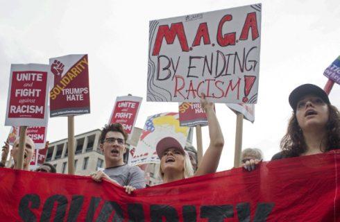 Manifestação contra supremacismo abafa neonazistas em frente à Casa Branca 1
