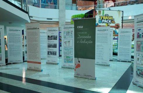 CGU apresenta Mostra Itinerante do Concurso de Desenho e Redação em Shopping da Capital