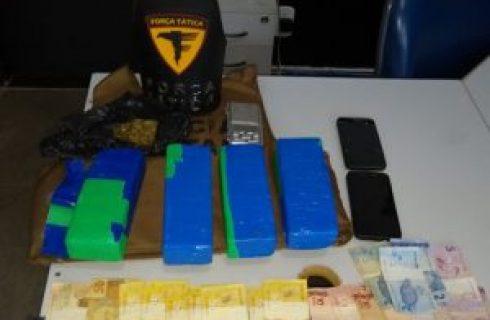 Três são presos com drogas durante operação da PM na divisa do TO com a Bahia